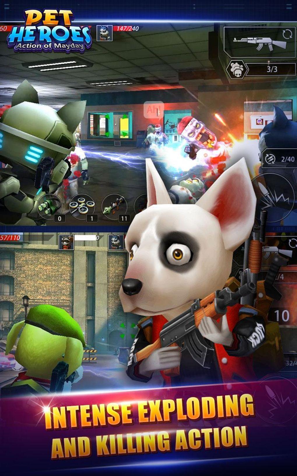 สงครามหมาแมว !! Action of Mayday: Pet Heroes เมื่อเหล่าหมาแมวต้องมากู้โลก !!