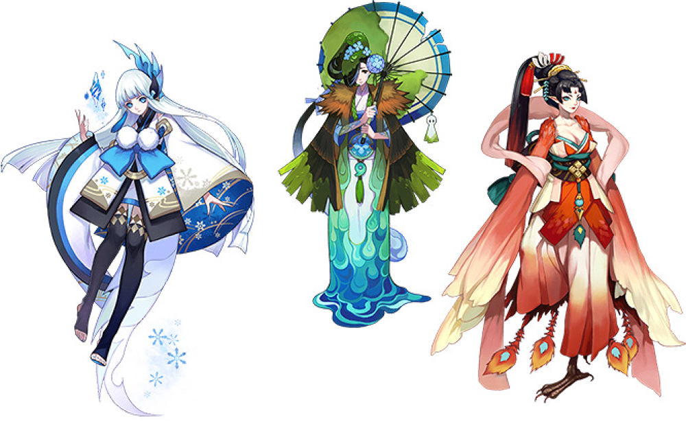 """สถานะลดความเร็วของสกิล3 """"ฝนน้ำตา (空の涙)"""" นั้นสามารถใช้คอมโบกับชิกิงามิอื่นๆ  ได้อาทิ ☆ Yuki Onna : สกิล3 """"พายุหิมะ"""" ที่โจมตีหมู่ ..."""